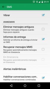 desactivar MMS Hangouts